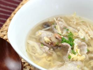 やまと豚とキノコの梅干し風味スープ