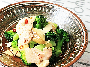 豚肉とブロッコリーのぺペロン風ソテー