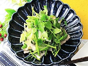 豚肉とセリのゆず胡椒炒め