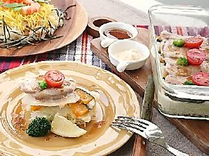 豚ロースと野菜のかさね蒸し